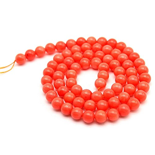 So Beauty 2 Pcs Gorgeous Natural Coral Round Loose Beads 16