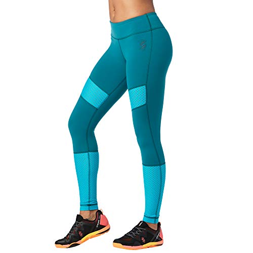 STRONG by Zumba Ankle Length Tummy Control Athletic Workout Leggings for Women, Small, Deep Emerald