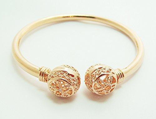 23K 24K Thai Baht Pink Gold Plated Bracelet Bangle women ()