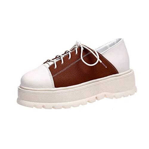 レディース スニーカー 厚底靴 カジュアルシューズ 通学 フラット レースアップ ウォーキング 革靴 走れる 歩きやすい 身長UP 防滑 カジュアルシューズ ランニング コンフォート 運動靴 スポーツシューズ