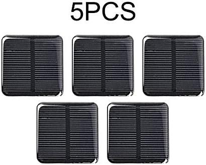 Wosiky Solarpanel, 2 V Quadratische Sonnenkollektor 130mA Photovoltaik Solar Power Panel Solarzelle Solar Panel Modul DIY Modul Solarzellen
