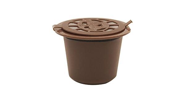 TAOtTAO - Cápsulas de café reutilizables para máquinas Nespresso 52 * 47mm marrón: Amazon.es: Hogar