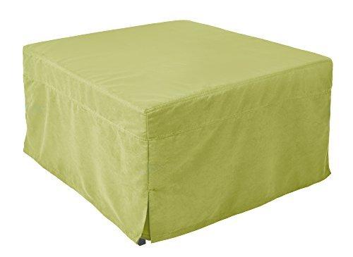 Nova Furniture Group Magical Ottoman Sleeper With Microfiber Slip Cover, Green - Green Microfiber Ottoman