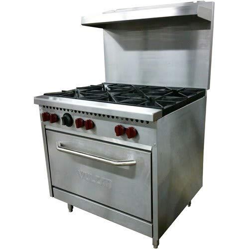 "Vulcan SX36-6B 36"" 6-Burner Gas Range w/Standard Oven, LP"