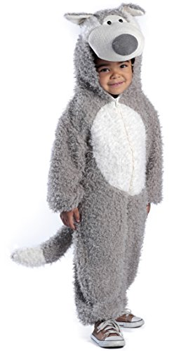 Princess Paradise Baby Boys' Big Bad Wolf Deluxe Costume, Grey/White 18M-2T -