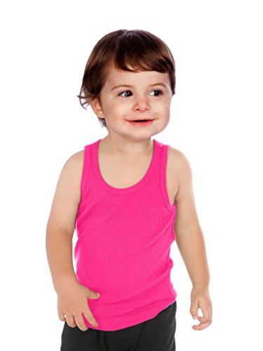 Kavio! Unisex Infants Beater Tank (Same I2C0236) Hot Pink 12M