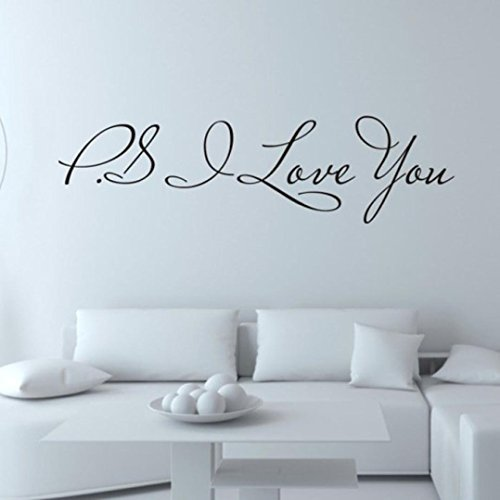 Datework I Love You Removable Art Wall Stickers