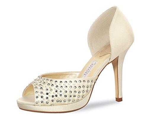 Elsa Coloured Shoes Women's Peep-Toe 6 UK Bfegjh