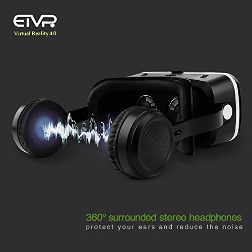 ca97b071e955 3D Virtual Reality Headset with Remote Controller for 3D Movies and Games – VR  Headset with Stereo Headphones and Adjustable Straps ...
