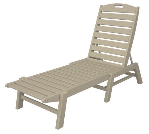 POLYWOOD NAC2280SA Nautical Chaise – Stackable, Sand