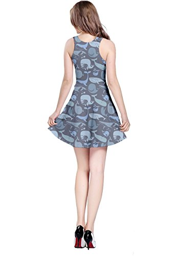 Sleeveless 5XL Turquoise Dolphin Turtles Animals Whales Fish Octopus Blue Jellyfish Womens XS Dress CowCow Whales Sea nxOTvBnf