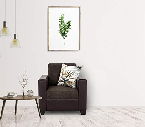 Urban Living Lucy Greenville 1 Seater Sofa   Brown