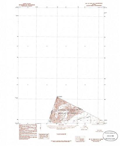 YellowMaps Mount Saint Elias B 7 AK topo map, 1:63360 scale, 15 X 15 Minute, Historical, 1985, updated 1985, 21.9 x 18 IN - - Fifteen Augusta Light
