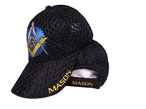 Mason Masons Freemason Masonic Lodge Black Shadow Mesh Texture Ball Cap Hat