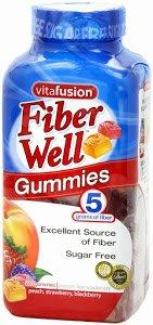 Vitafusion fibre Eh bien Gummies excellente source de fibres sans sucre: 220 Gummies