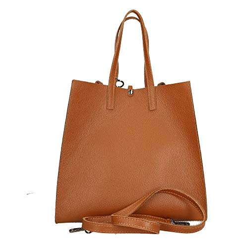 Mano Borsa Borse a in Pelle in 33x31x18 Made Cuoio Italy Bag cm Chicca wEIqpnqA