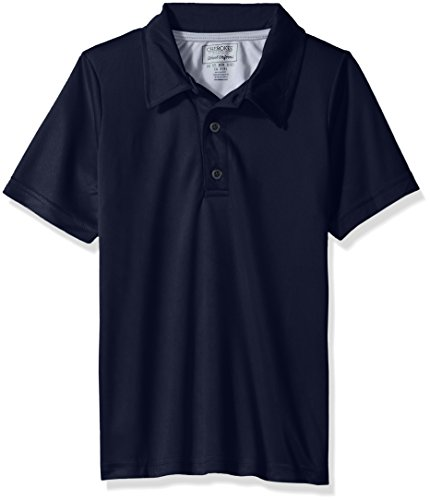 Cherokee Big Boys' Uniform Short Sleeve Performance Polo, Navy, 14/16 by Cherokee