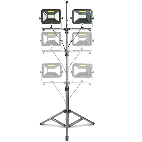 VonHaus Two-Head 10000 Lumen LED Work Light with Detachable Metal Lamp Housing, Metal Telescopic Tripod Stand, Rotating Waterproof Lamps and 8.2Ft Power Cord by VonHaus (Image #2)