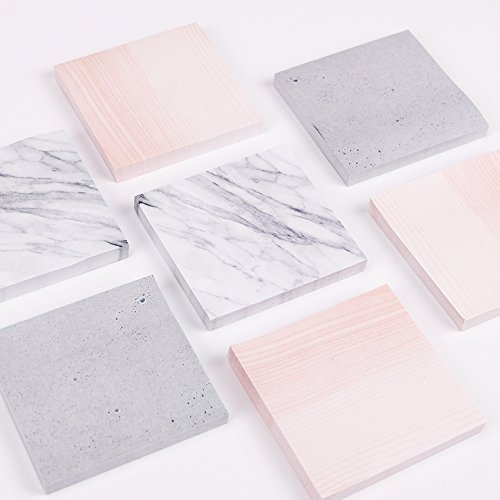 casa shop 1PC Creative Marble Color Memo Pad Stone Style Sticky Office Stationery Supply