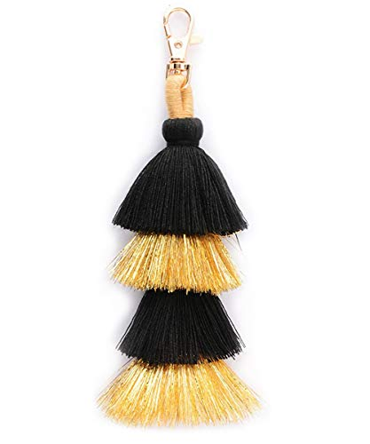 Colorful Boho Pom Pom Tassel Bag Charm Key Chain (G style)