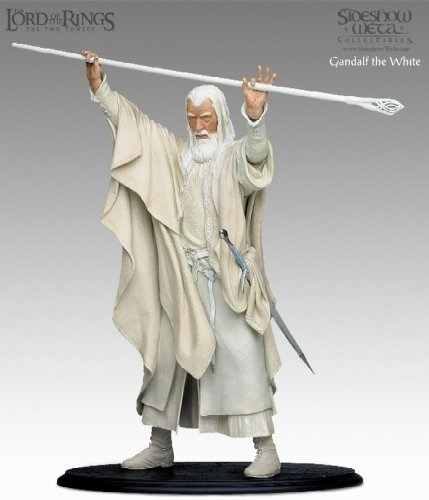 Lord of the Rings LOTR Gandalf the White Statue Holding Staff Figure Sideshow Collectibles (Gandalf The White Staff)
