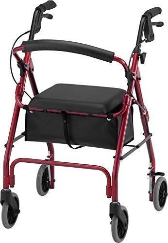 Nova GetGo Classic Rollator Walker, Red