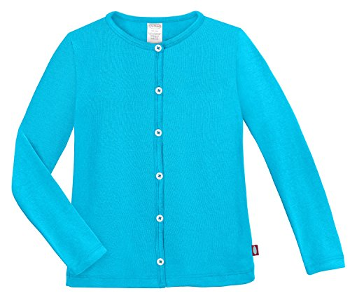 City Threads Girls Cardigan Top Button Down Sweater Layering School Play For Sensitive Skin SPD Sensory Friendly, Turquoise, 6 by City Threads