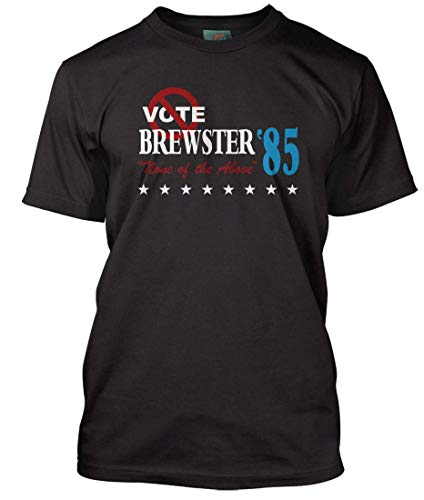 BREWSTERS Millions Inspired Vote None of The Above, Men's T-Shirt, XX Large, Black