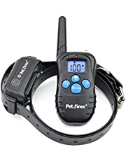 Petrainer Rechargeable and Waterproof Remote Dog Training E-Collar for 1 Dog with Beep, Vibration and Shock Electronic Electric Collar, 330 Yard