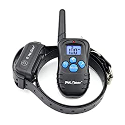 Petrainer Shock Collar For Dogs Waterproof Rechargeable Dog Training E Collar With 3 Safe Correction Remote Training Modes Shock Vibration Beep For Dogs Small Medium Large