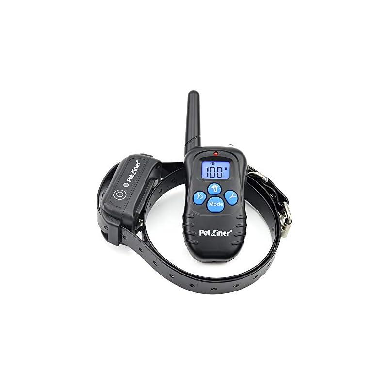 dog supplies online petrainer pet998dbb 100% waterproof dog shock collar with remote dog training collar with beep/vibra/shock electric e-collar, 300yd range
