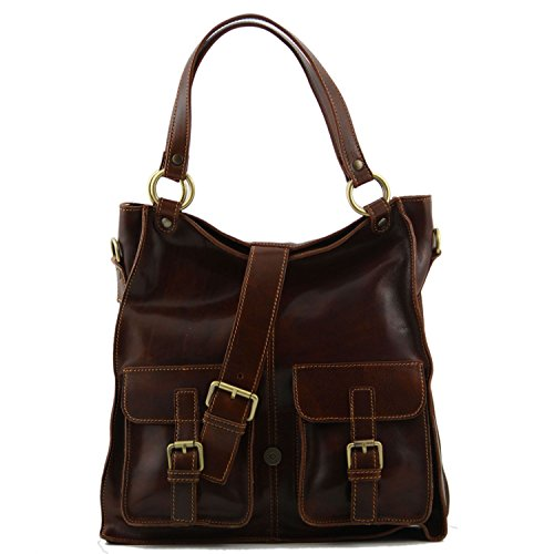 Tuscany Leather - Melissa - Borsa donna in pelle Miele - TL140928/3 Rosso