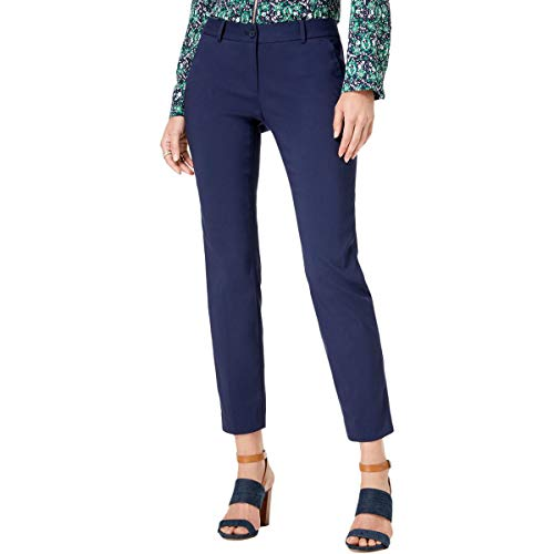 Michael Michael Kors Womens Miranda Slim Leg Ankle Dress Pants Navy 8