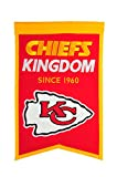 NFL Kansas City Chiefs Franchise Banner, Small, Red