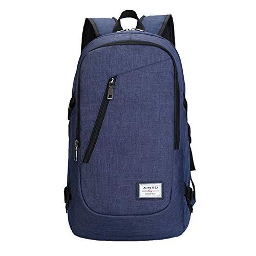 Bagslightweight Blue Resistant Port blue Usb With College Bag Travel Backpack Bags Chenyue School Laptop Water qwEgax6Y