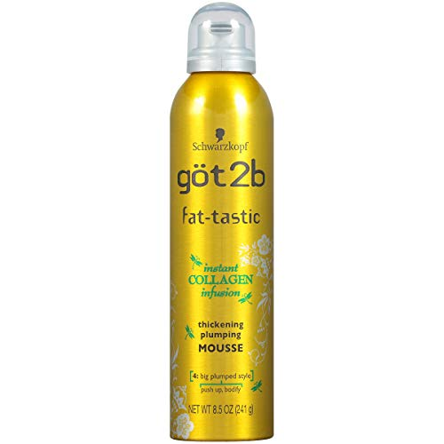 got2b fat-tastic Instant Collagen Infusion Mousse, 8.5 Ounces (Best Mousse For Scrunching Straight Hair)
