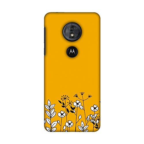 - AMZER Slim Fit Handcrafted Designer Printed Snap on Hard Shell Case Back Cover Skin for Motorola Moto G6 Play - Floral Bunch- Mustard HD Color