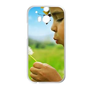 Girl Dandelion HTC One M8 Cell Phone Case White SA9710755