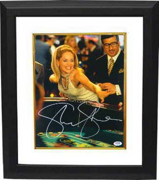 Sharon Stone Signed Autograph Casino 11x14 Framed Photo Rolling Craps Dice- PSA from Sports Collectibles Online