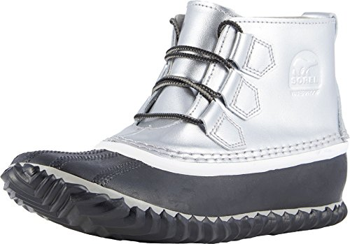 - SOREL Womens Out N About Rain All Weather Boot, Metallic-Lux/Black, 10 B(M) US