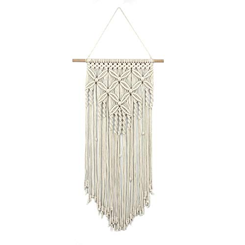 vanpower Cotton Yarn Macrame Wall Butterfly ?Hanging Tapestry Handmade Gift (Beige)