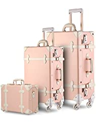 UNIWALKER Vintage Suitcase 3 Piece Luggage Set