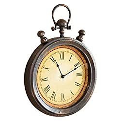 Cape Craftsmen 6CL014 Everyday Retro Stopwatch Metal Wall Clock, 5 x 35.5 x 51, Multicolored