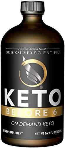 Quicksilver Scientific Keto Before 6 Liquid - Enjoy Carbs While on Keto, Help Return The Body to Keto + Allow for More Flexible Protocols (16.9oz / 500ml)