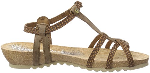 Panama Jack Women's Dori Snake Open Toe Sandals Brown (Cuero B7) yw49SrEg