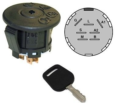 The ROP Shop Ignition Starter Switch & Key for John Deere GY20074 Delta 6900-47P Lawn Mowers