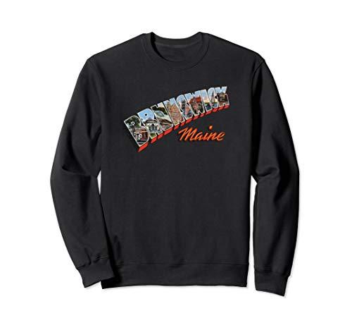 - Brunswick Maine ME Retro Vintage Sweatshirt
