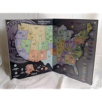 Amazoncom Littleton US Territory DC Quarter Color Folder - Us map for collecting quarters