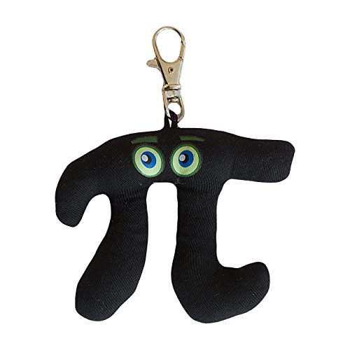 Plush Pi Keychain with Backpack Clip--Geek fun novelty