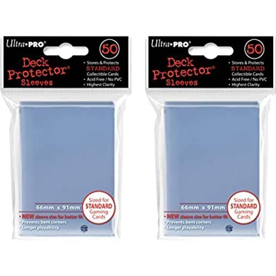 (100x) Ultra PRO Clear Deck Protectors Sleeves Standard MTG Colors: Toys & Games